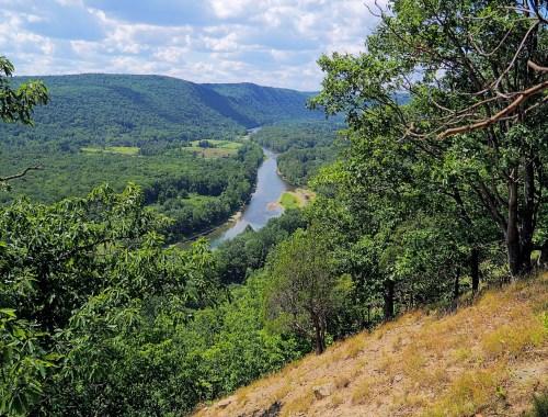 View from Mark Twain Trail in Elmira