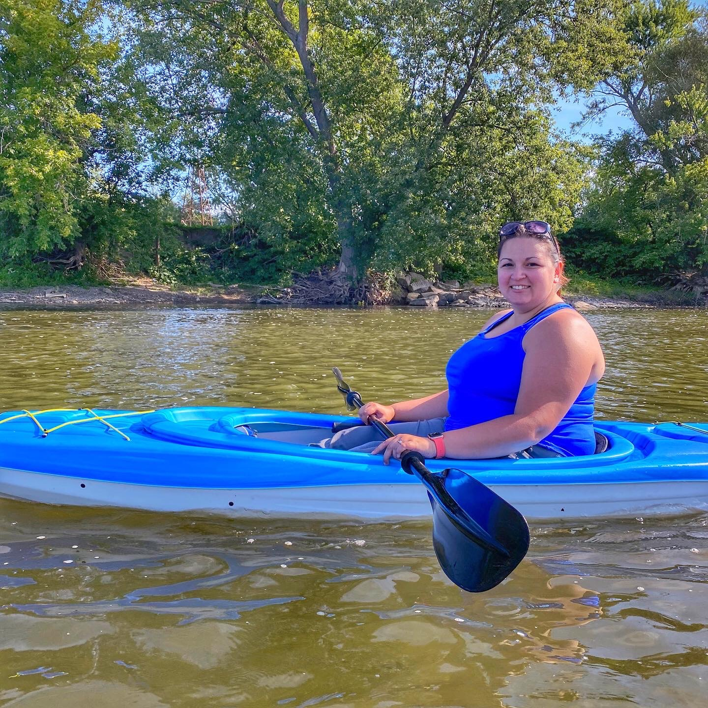 Dani Kayaking in Binghamton