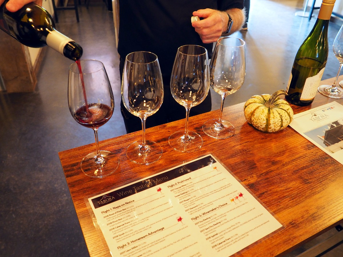Tabora Winery Wine Flight