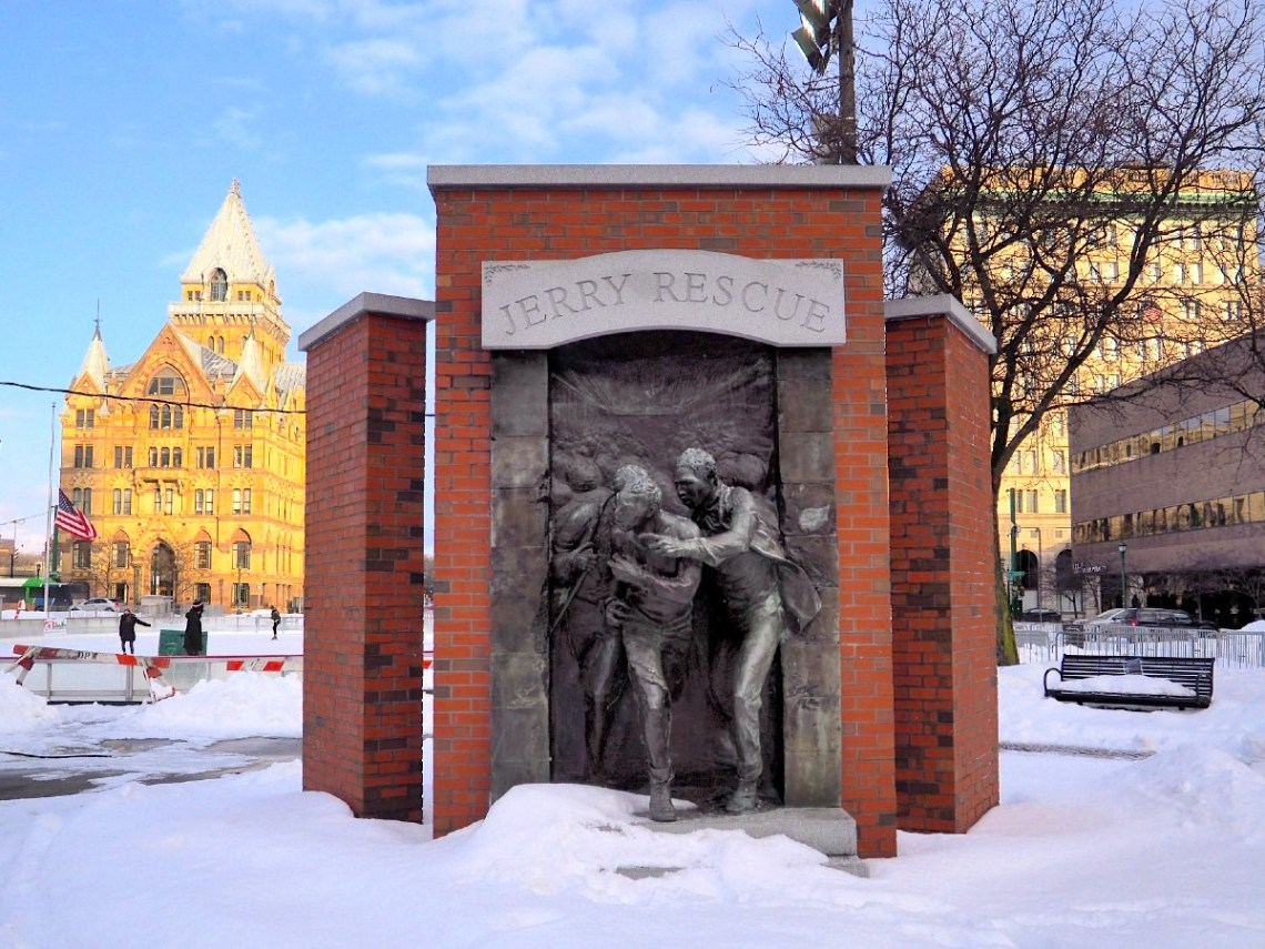 Jerry Rescue Monument in Syracuse