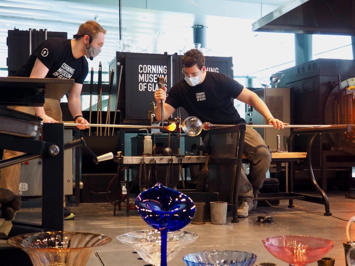 Corning Museum of Glass Glassblowing Demonstration