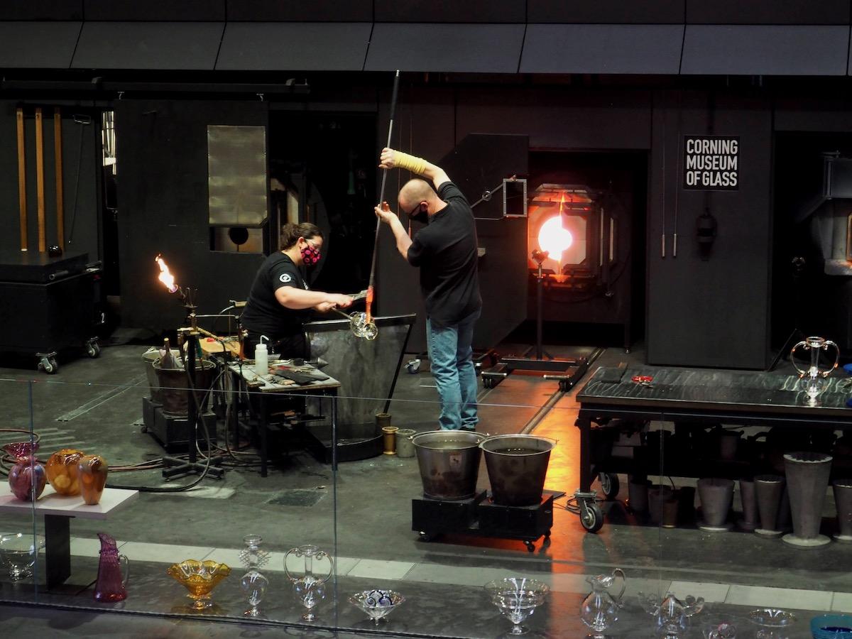 Corning Museum of Glass Glassblowing Studio