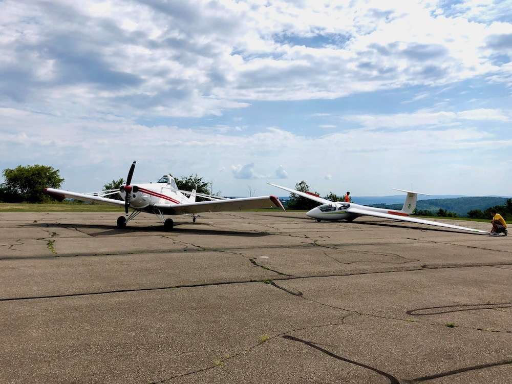 Towplane and Glider