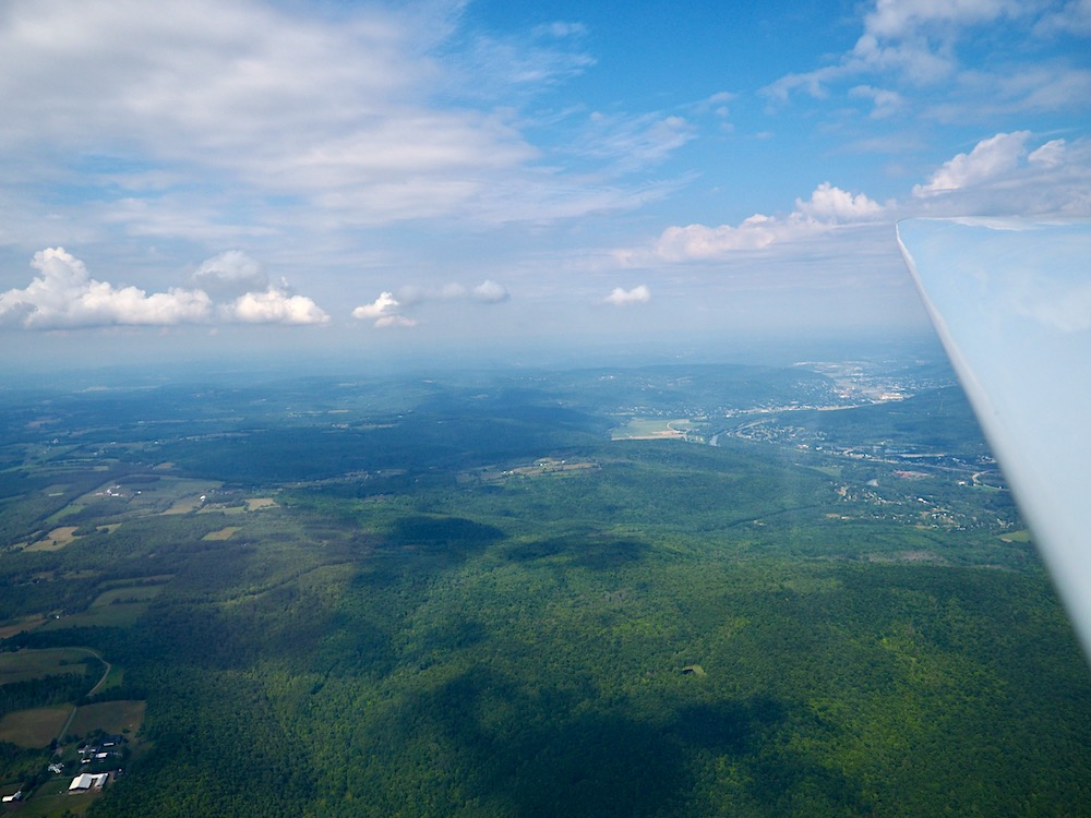 View of Elmira from Glider