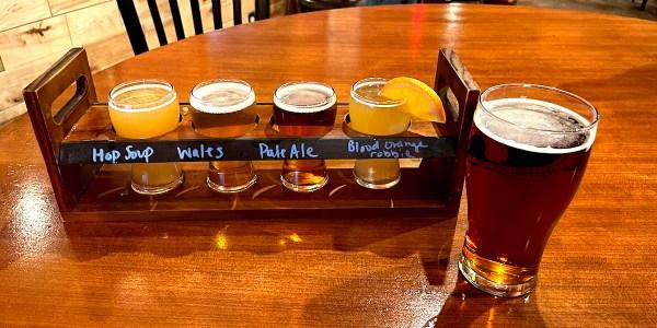 7 Hamlets Beer Flight