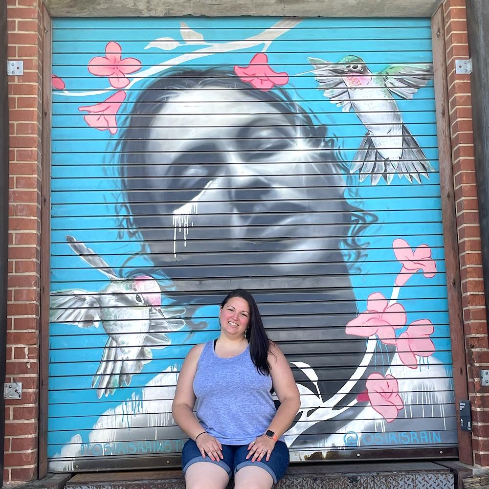 Dani at Camp North End Mural