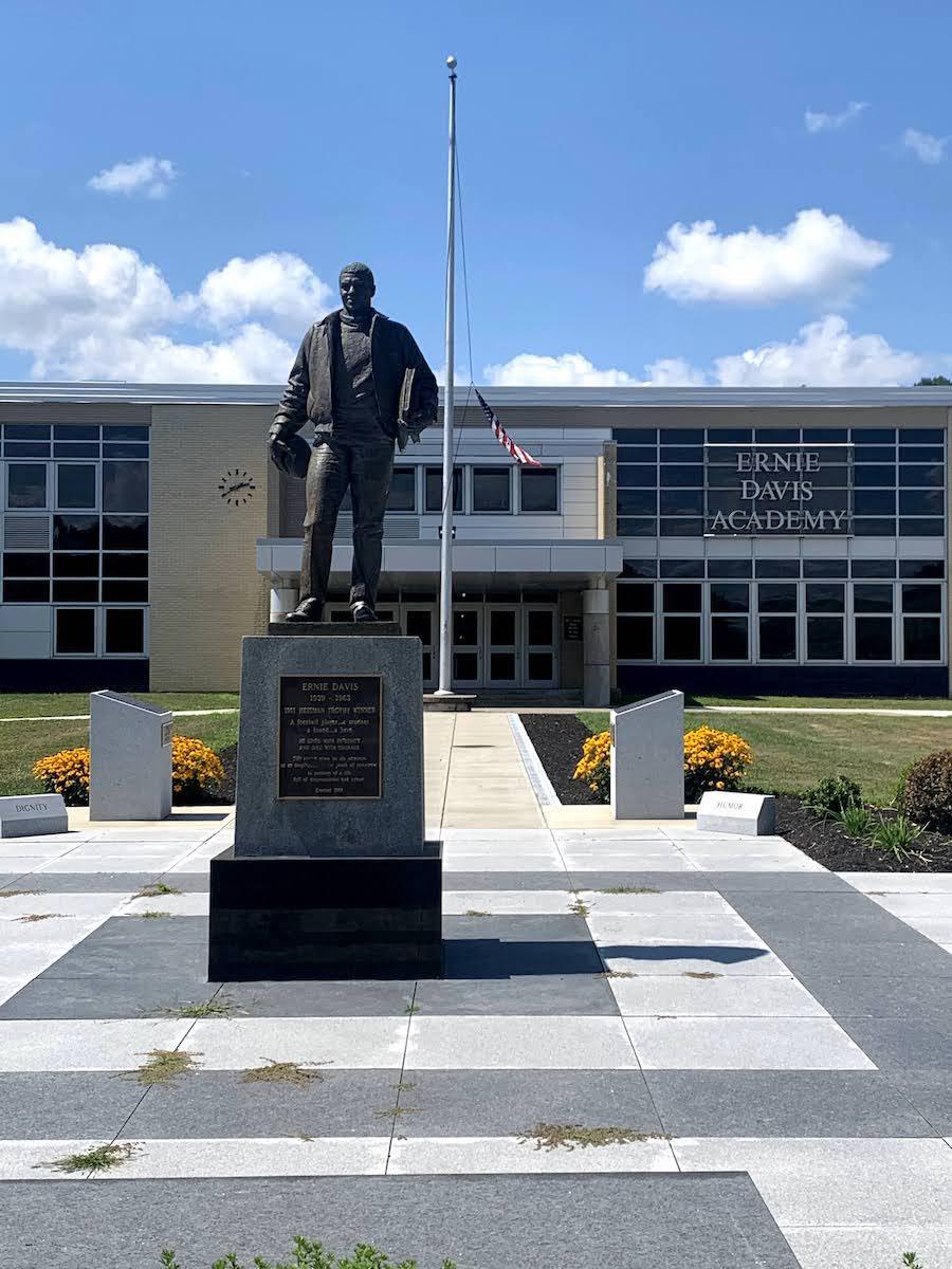 Ernie Davis Statue in Elmira