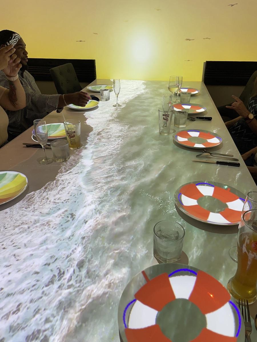 Virtual Dinner Beach Scene