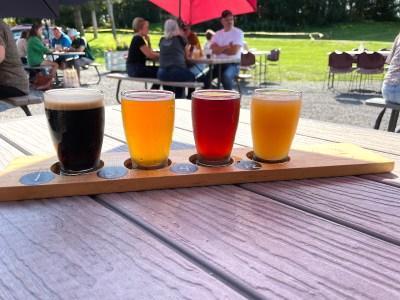 Skaneateles Brewery Beer Flight