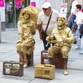 Street artists in Vienna