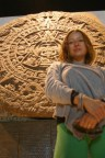 Agnieszka with the Piedra del Sol