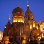 【ハルビン1人旅 Vol.5】聖ソフィア大聖堂の夜景と美味しい香芝香拌