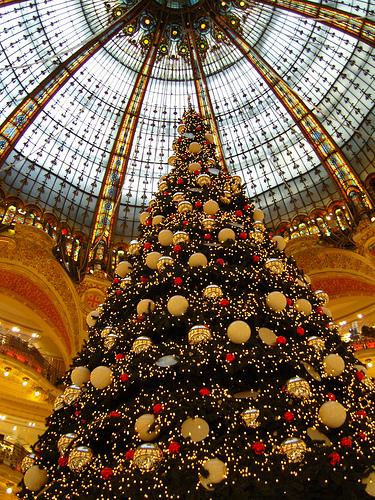 Sapin de Noël aux galeries Lafayettes