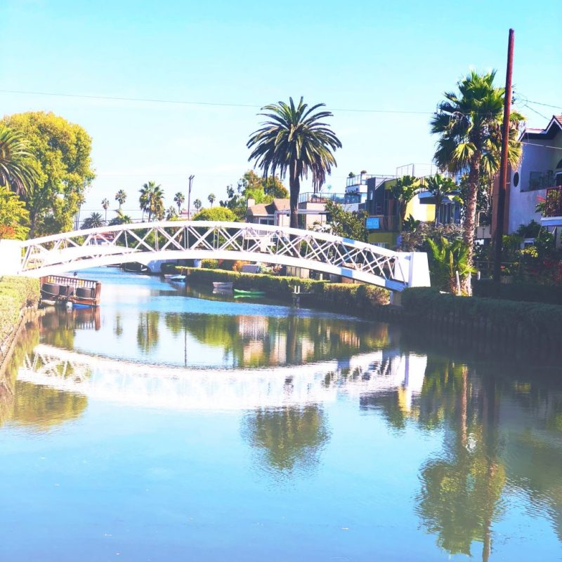 The Venice Canals, Venice Beach, Los Angeles