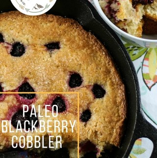 gluten-free blackberry cobbler