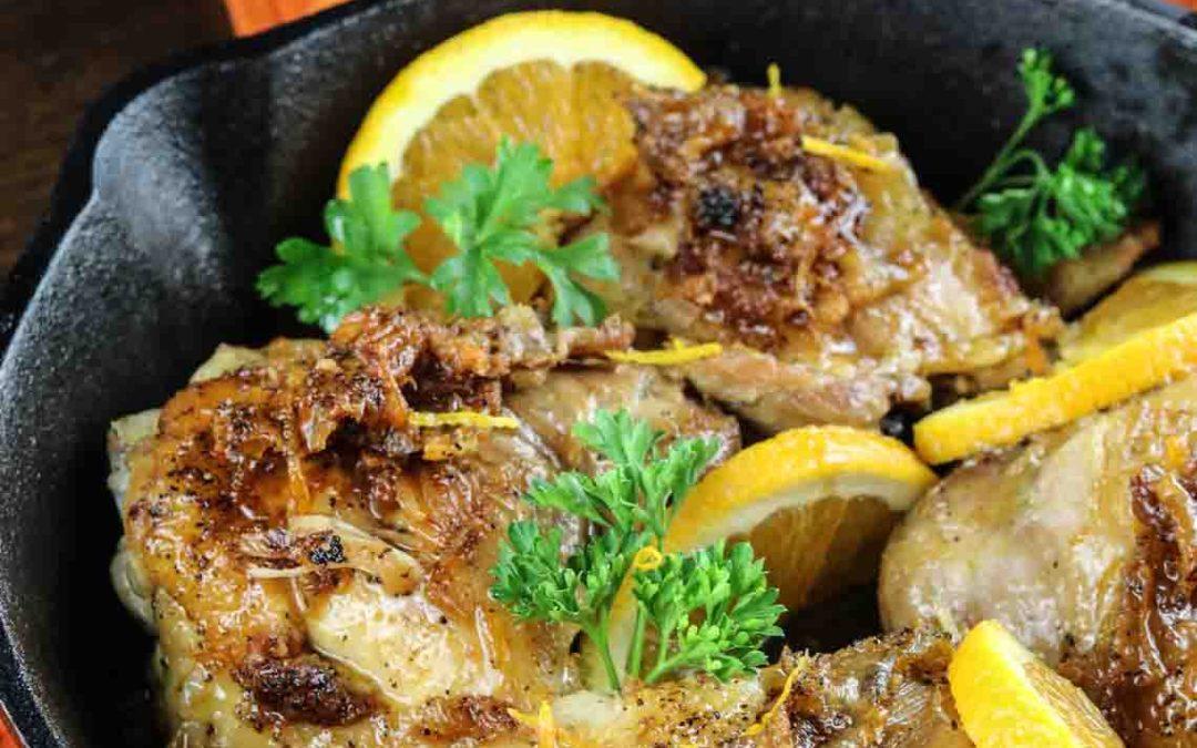 Orange Glazed Skillet Chicken