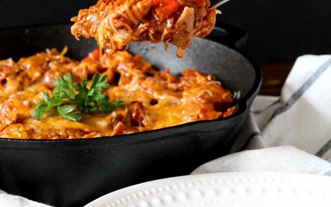 Gluten-Free Chicken Enchilada Skillet