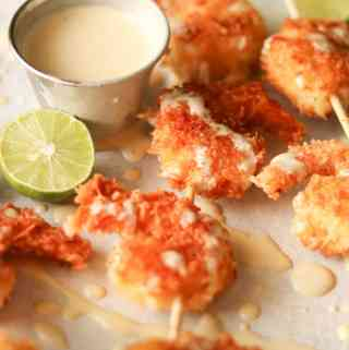 coconut shrimp with key lime aioli