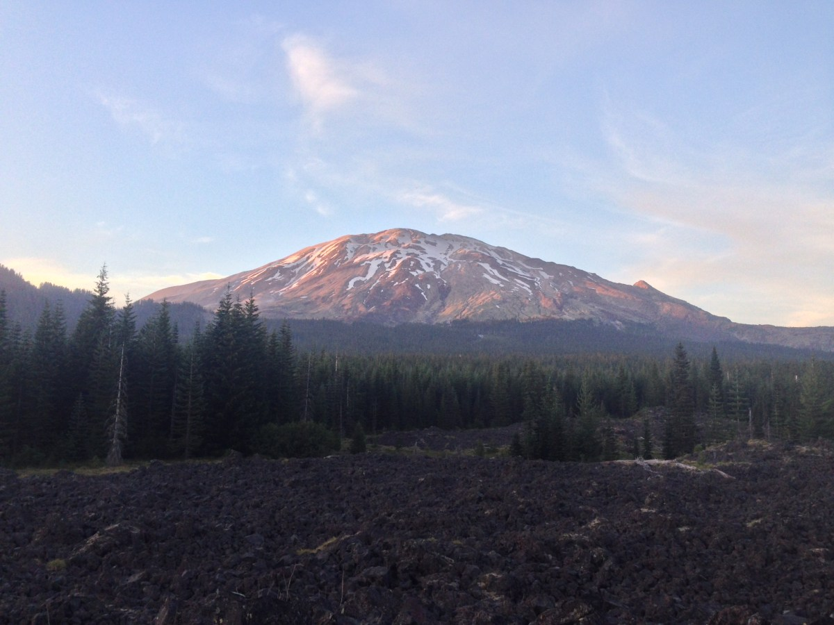 Mt St Helens from Red Rock Pass Trailhead.