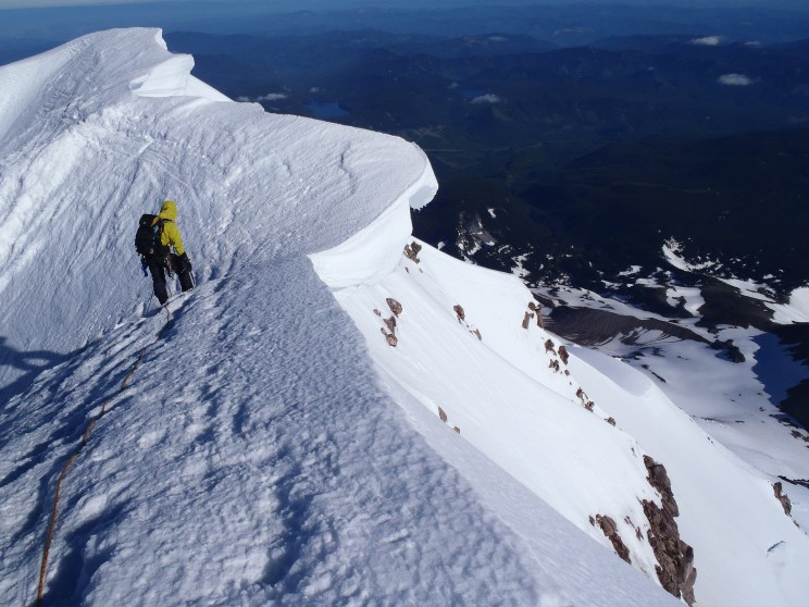 Cornice on the summit ridge. - Photo courtesy of Scott Withers/Fox12weather