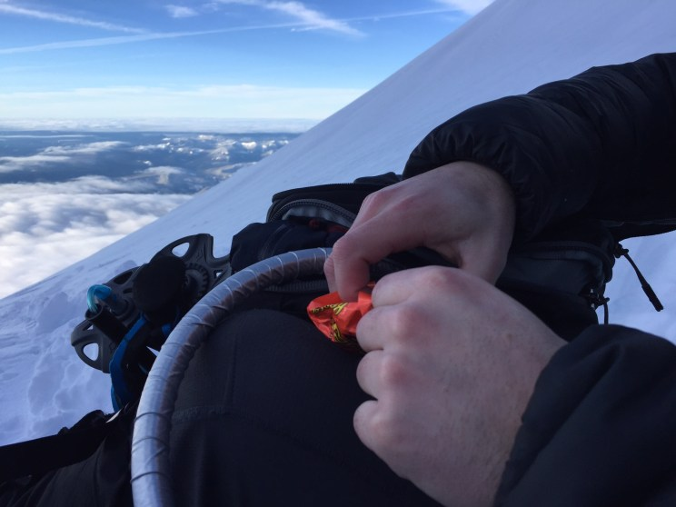 He burned off that Reeses' after reaching the top of the Hogsback.