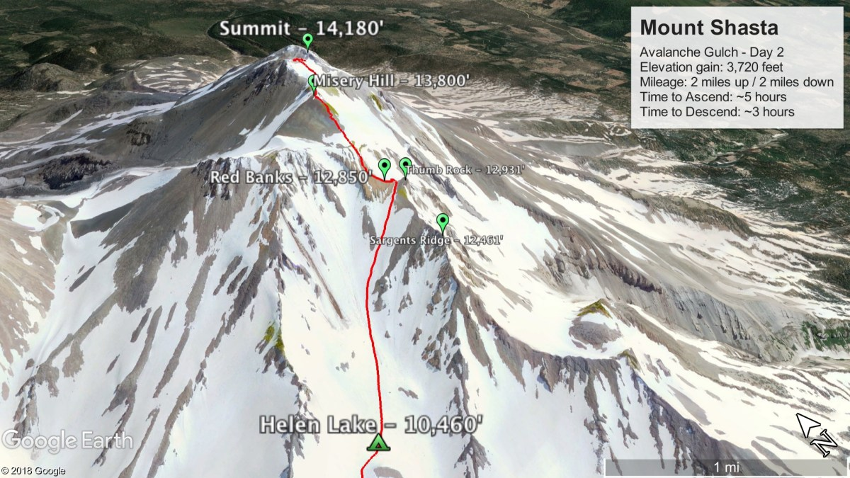 Avalanche Gulch Route - Day 2