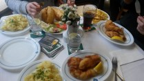 traditional Hamburgian Fish feast at Daniel Wischer