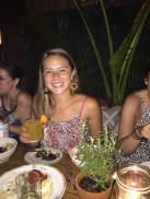 Happy girl with her margarita