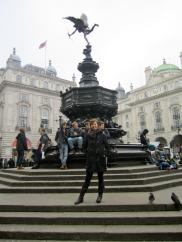 Picadilly Circus. My favorite spot in London
