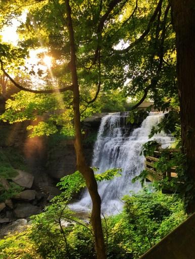 brandywine falls cleveland waterfall