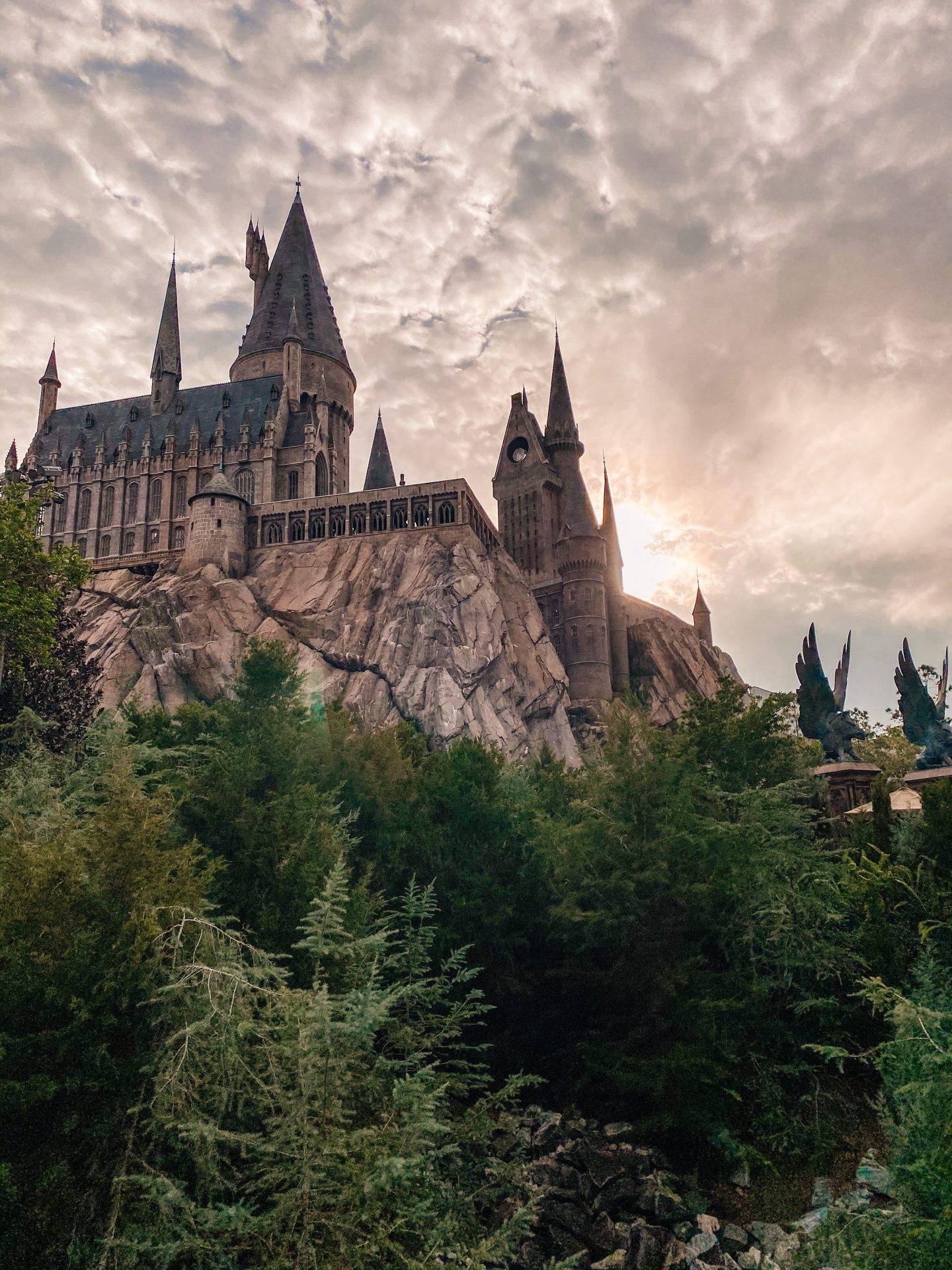 Hogwarts castle at universal studios wizarding world of harry potter