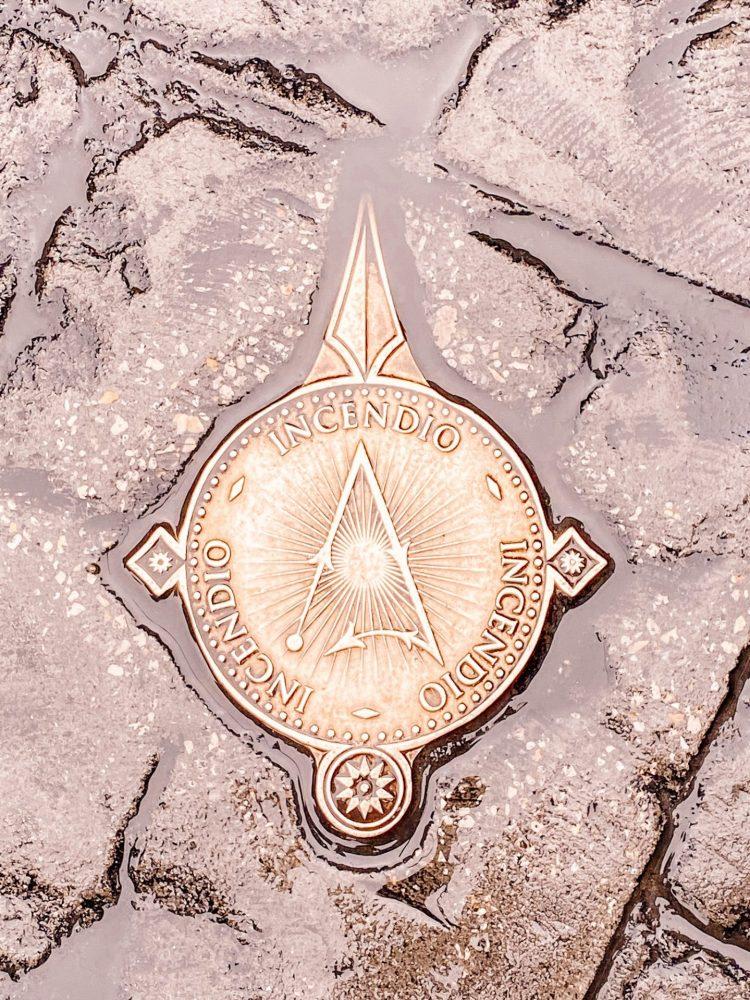 Magic interactive wand bronze marker at the wizarding world of harry potter universal studios florida