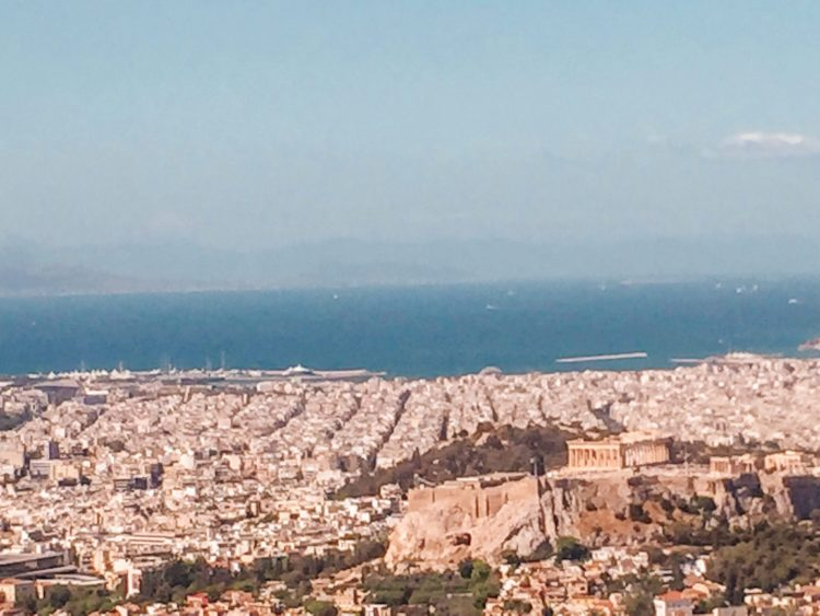 The view from the best place in Athens Lycabettus hill