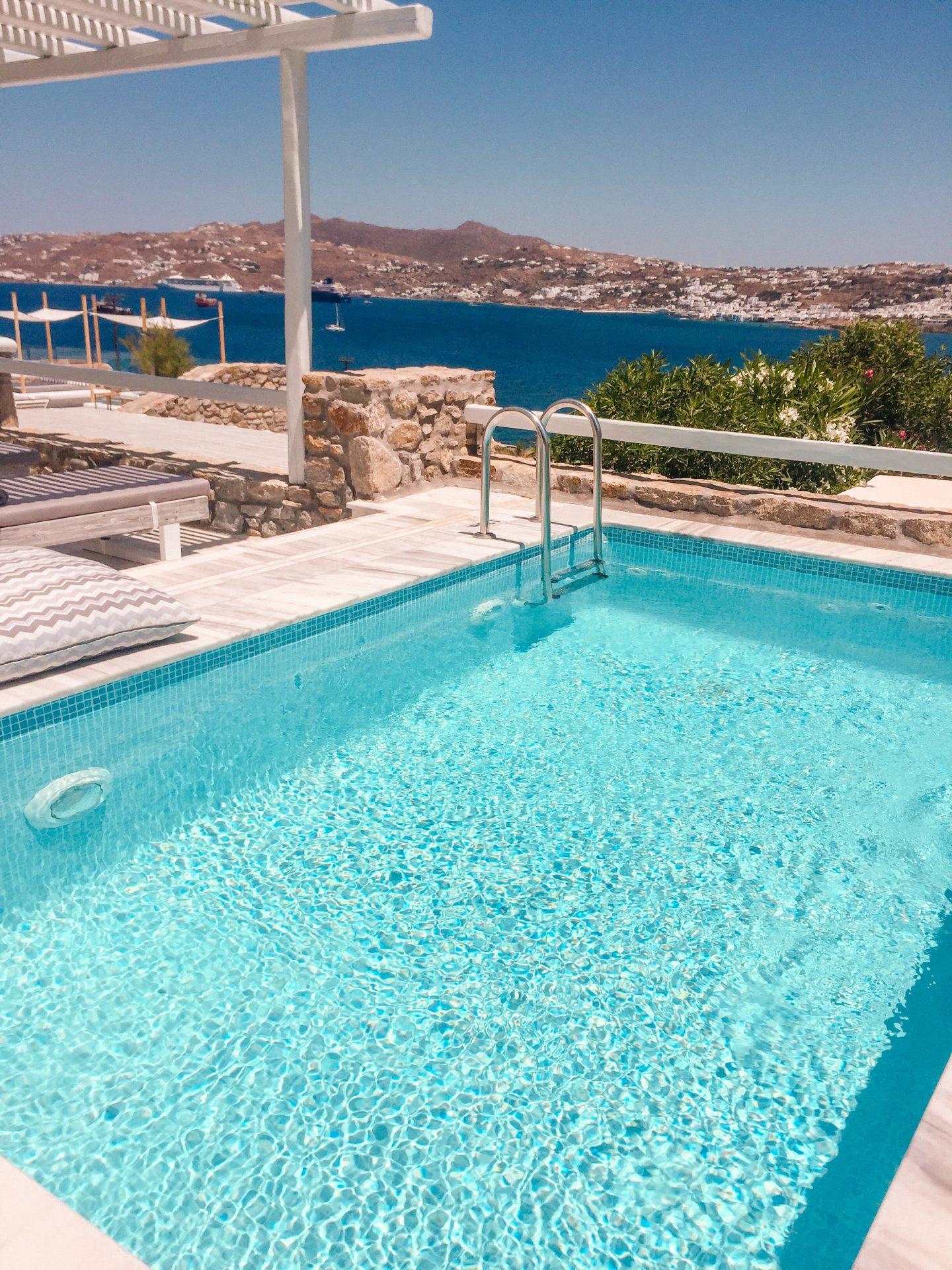 Hotel Mykonos No5 while on Mykonos Island in Greece visiting