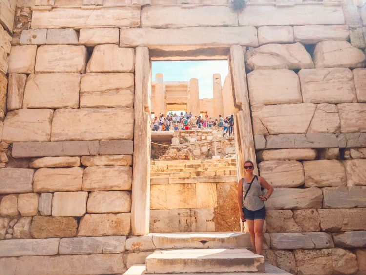 The Acropolis located in one of the best places to visit in Greece, Athens.