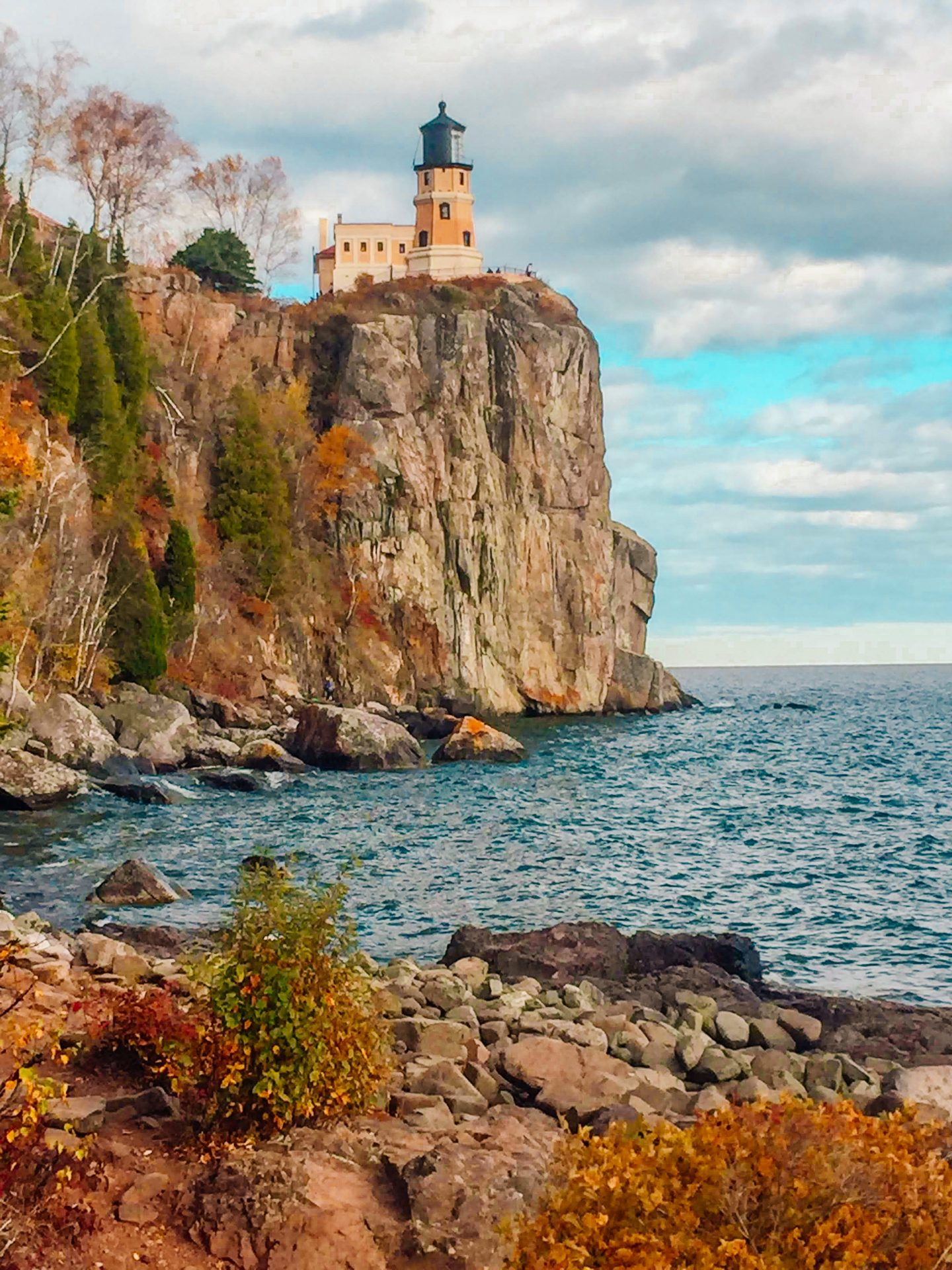 Rugged Shore line along Lake Superior from Split Rock Lighthouse State Park