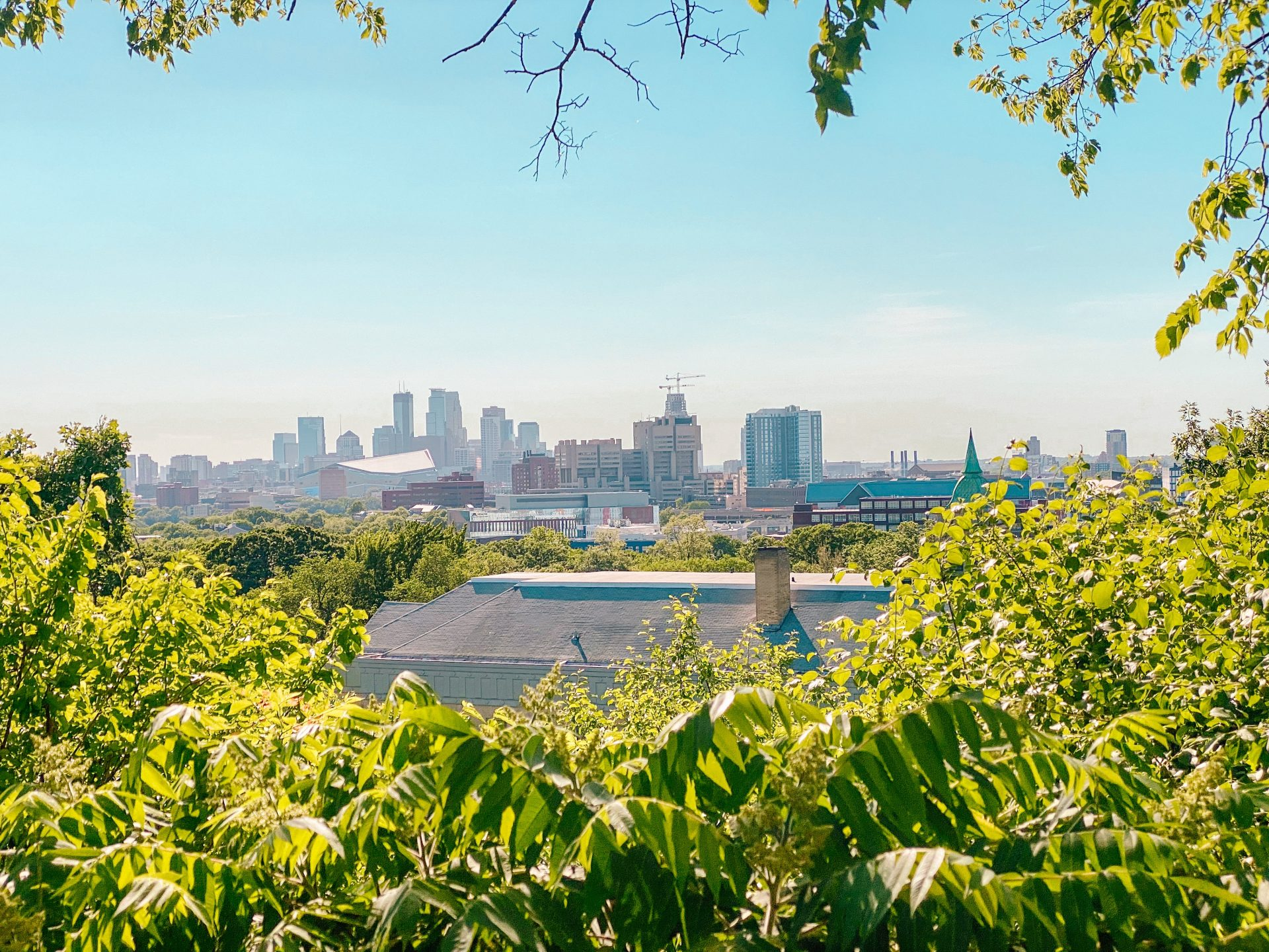 View of downtown Minneapolis from Prospect Park