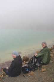 The men by the lake - as you can see the fog is pretty log