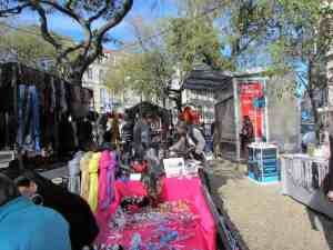 clothing at Lisbon market, Ladra Flea Market