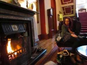 lobby fireplace, tinakilly manor house