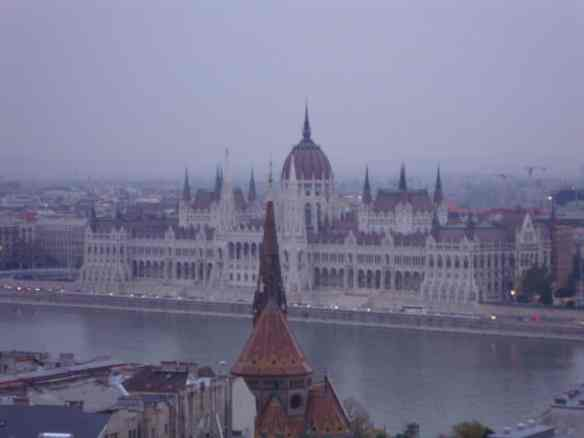 Budapest Parliament from Castle Hill, on the pest side