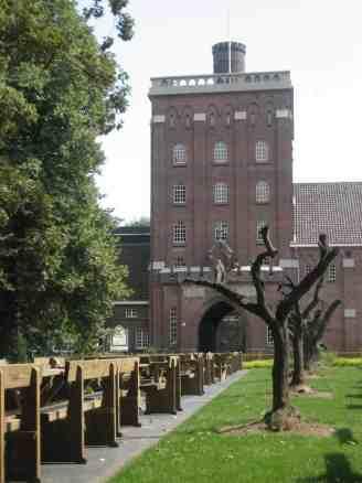 Entrance to the de Koningshoeven abbey of La Trappe