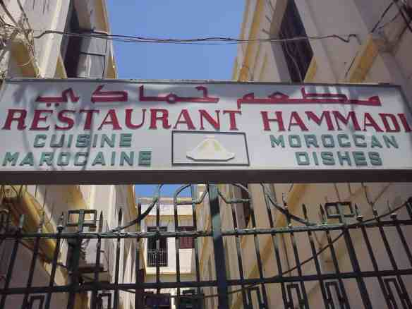 The ominous tour bus restaurant, Day trip to Tangier