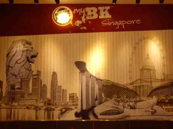 Burger King advertising, crazy Singapore photos