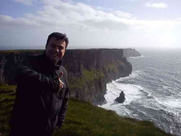 800 meter cliff drop, Cliffs of Moher by rental car from Dublin