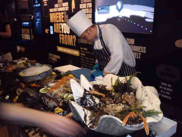 Loved the spread at the welcome party thrown by Guinness. Great oysters and sushi, but where were the crab cakes??
