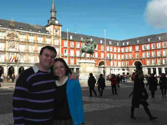 The best part of being at FITUR was not being at FITUR. Plaza Mayor in Madrid