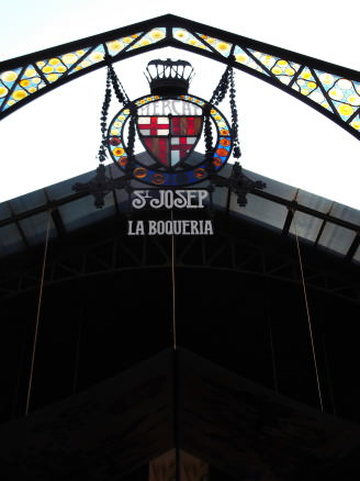 La Boqueria entrance sign