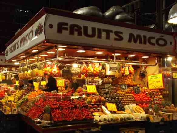 La Boqueria fruit stall