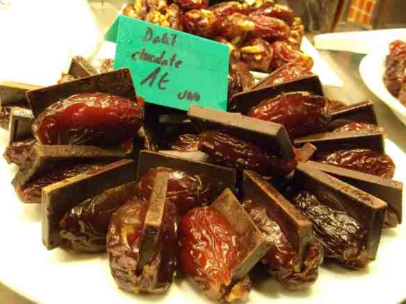 dates stuffed with chocolate